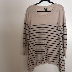 H&M striped boho sweater